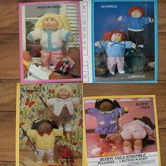 Vintage 80s Knitting patterns Cabbage Patch Kids