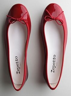 Repetto patent leather red flats