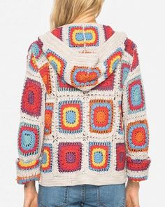 New Free of Charge Crochet cardigan multicolor Popular Johnny Was Yvonne Crochet Hooded Cardigan Multicolor Sweater – Tradesy Crochet Bolero, Crochet Coat, Crochet Jacket, Crochet Cardigan, Crochet Granny, Crochet Clothes, Diy Clothes, Hooded Cardigan, Knitted Hat