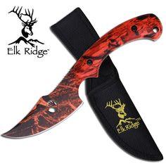 @ShopAndThinkBig.com - Fixed Blade Knife 8 Skinner Full Tang Camo Blade Orange Camo Handle Includes Nylon Sheath http://www.shopandthinkbig.com/orange-camo-skinner-knife-elk-ridge-p-1154.html