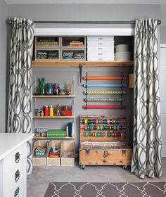 Love this one. I could do this if I purged what I have.   23 Craft Studios You'll Be Totally Jealous Of