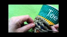2 coloured Gaucho knot coffee cup cozy (paracord) - Pt.2 & 3