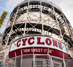 Cyclone sign, 834 Surf Avenue, Coney Island, Brooklyn, New York