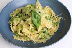 Mafaldine De Cecco aux courgettes et pesto de basilic et fromage fontina