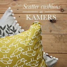 Design Team Fabrics Scatter Cushions, Throw Pillows, Bird Feathers, Upholstery, Fabrics, Industrial, Birds, Pattern, Photos