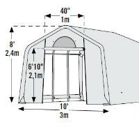 Shelter Logic Heavy Duty Greenhouse **Organic Growers Pro Round Top **Increase Your Growing Season by 4 Months! **Easy Step-By-Step Instructions **Prices from $297 **See: http://www.hiscoshelters.com/  **Come check out our website explore what we have because there are free shipping both ways you can feel comfortable you are going to get good purchase from us #greenhouse #shelter