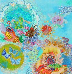 """Saatchi Online Artist Lia Porto; Painting, """"Agua de coco y bananas pratas (coconut water and bananas pratas)"""" #art"""