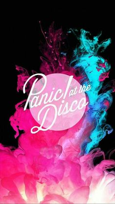 Panic! At The Disco neon blue & pink smoke phone background