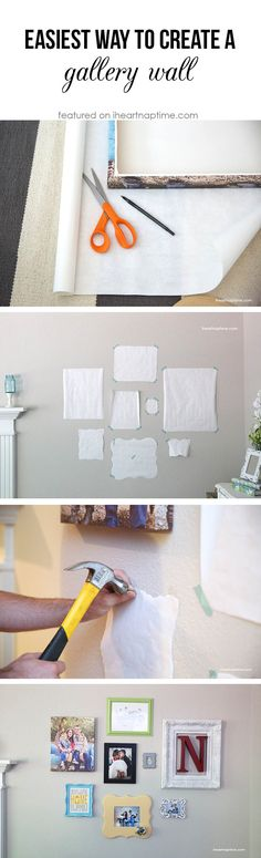 The easiest way to make an AWESOME gallery wall on iheartnaptime.com #DIY #homedecor