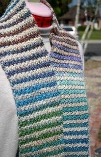Crocheted Noro Striped Scarf  aka Brooklyn Tweed Envy  free #crochet scarf pattern