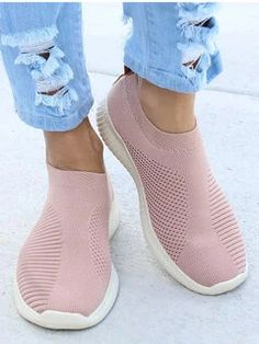 women shoes ONLY FOR YOU 331267 - NEWCHIC Mobile Moda Sneakers, Sneakers Mode, Running Sneakers, Slip On Sneakers, White Sneakers, Sneakers Fashion, Fashion Shoes, Shoes Sneakers, Fall Fashion