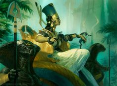 Hapatra, Vizier of Poisons MtG Art by Tyler Jacobson