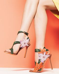 Sergio Rossi - Embroidered flower sandal