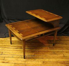 Lane Mid Century Modern Two Tiered End Side Table by ScrantonAttic, $249.99