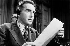 "Montgomery Clift's memorable performance in, ""Judgment at Nuremberg"", directed by Stanley Kramer."