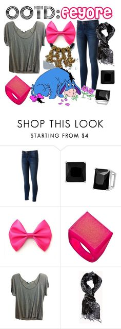 """""""OOTD: Eeyore"""" by fabulousgurl ❤ liked on Polyvore featuring Journee Collection, Dara Ettinger, Forever 21 and Disney"""