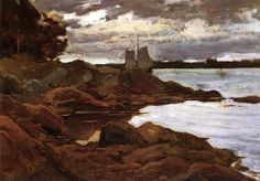 Close of Day on the Maine Shore Willard Leroy Metcalf - 1881