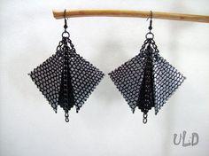 Leather earringsGeometric earringsLeather by UniqueLeatherDesign