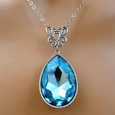 Swarovski Blue Crystal  Vintage Style