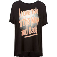 LIRA To The Moon Womens Oversized Tee 209555100 | SALE | Tillys.com