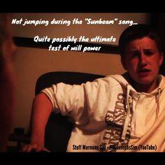 From Stuff Mormons Say, created by Joseph Sim (YouTube - @Joe Jonge Sim)  - - - -   (Tags)  LDS quote, Stuff Mormons Say, 1, 2, 3, Mormon humour, Joseph Sim, Mormon comedy, things mormons say. Mrjosephsim Mr.