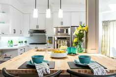 One of the questions @mrsilverscott and I get all the time is, 'How can we do the transformations we do on such small budgets?'. We always look for any areas to save money and stretch a dollar! For example, when replacing the countertops, consider butcher block for the island and stone for the rest. This looks like a design choice and yet saves you thousands of dollars!