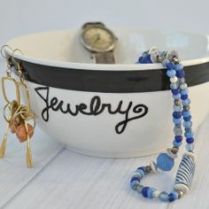 Make a personalized gift from a thrifted bowl in minutes.