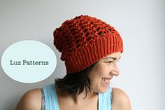 Ravelry: Autumn lace slouchy hat 147 pattern by Luz Mendoza