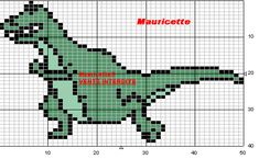 Dinosaurier perler beads pattern by Mauricette