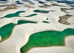 Lencois Maranheses National Park, Brazil. It's a 300 km2 desert next to the sea that gets flooded during rainy season.