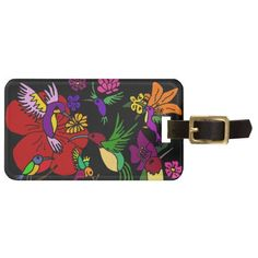 Hummingbirds in the Garden Tags For Luggage #hummingbirds #luggagetags #art And www.zazzle.com/inspirationrocks*