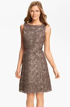 So lovely and fun texture--very reasonable price too! Adrianna Papell Metallic Soutache A-Line Dress available at #Nordstrom