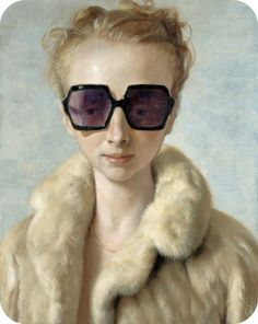 John Currin, Rachel in Fur, 2002