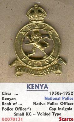 Kenya Police Badge 1930 - 1952