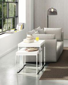 White Nesting Side Table Design Ideas #nestingsidetables Side Tables  #moderndesign Living Room Design #