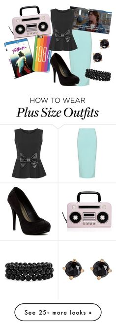 """1984"" by sassyladies on Polyvore featuring Kate Spade, Peter Luft, Casetify, WearAll, Michael Antonio, Bling Jewelry and Irene Neuwirth"