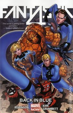 Fantastic Four TPB (2014-2015 Marvel NOW) By James Robinson 3-1ST Marvel Comics Modern Age Comic book covers Super Heroes Villians Sue Storm Reed Richards The Thing Human Torch Fantastic Four