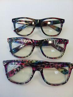 Light Show / Rave glasses- rainbow animal print. $15.00, via Etsy.