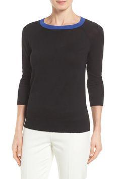 Cotton Blend Pullover (Petite)