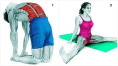 Camel Pose and Wide Forward Fold