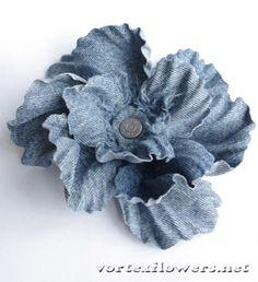 Как сделать мак из ткани? Новая технология! | Vortex Flowers