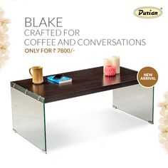 Blake gives a classic vibe to your living room! Perfect for all the occasions, this chic coffee table is an ideal setting for warm tete-a-tetes.