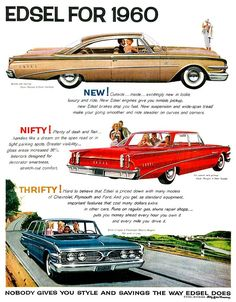 Edsel Ford, Car Ford, Ford V8, Ford Fairlane, Ford Motor Company, Rat Rods, Vintage Advertisements, Vintage Ads, Vintage Designs