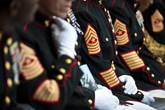 That's a lot of years...a lot of service...a lot of experience..a lot of war. Thank you Marines.