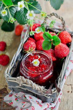 Fresh strawberries and jam!