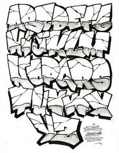 I thought this was really cool in the way that all the letters fit together like it was one form. It reminds me of a rock that has many cracks and the cracks form the letters