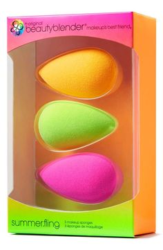 This limited-edition collection of makeup sponges is inspired by the majestic colors of a summer sunset.