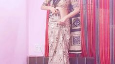 How To Wear Sari-How To Wrap The Saree Around Your Waist Over The Jeans/...