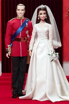 Wedding-day Barbies: William & Catherine Royal Wedding Giftset (2012)