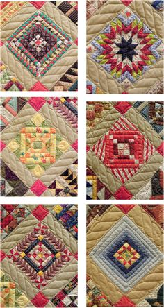 """Close-up, """"Jeremy's Quilt"""" by Joan McNamara, 2013 AZQG.  """" I did this to learn to piece; some 6"""" blocks had over 280 pieces. Over 100 fabrics were used."""" Photo by Quilt Inspiration"""